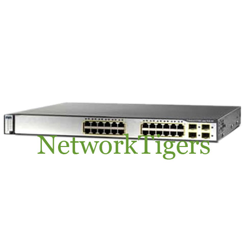 Cisco WS-C3750G-24PS-S 24x Gigabit Ethernet PoE 4x 1G SFP IP Base Switch