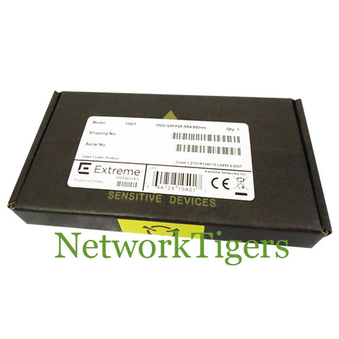 NEW Extreme 10401 100 Gigabit 70m OM3/100m OM4 MMF MPO Optical QSFP Transceiver