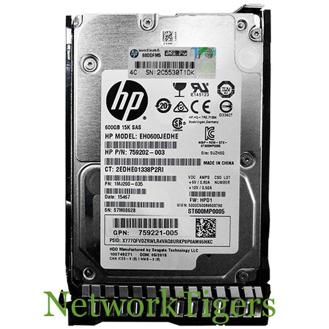 HP 870759-B21 HPE 900GB SAS 12G Enterprise 15K SFF Hard Drive