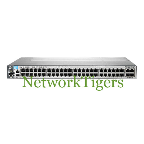HPE J9574A 3800 Series 48x Gigabit Ethernet PoE+ 4x 10G SFP+ Switch - NetworkTigers
