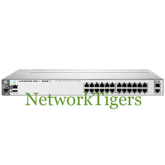 HPE J9587A 3800 Series 24x Gigabit Ethernet PoE+ 2x 10GE Switch - NetworkTigers