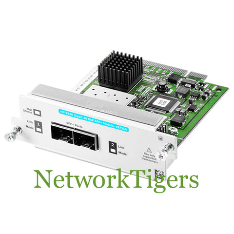 HPE J9731A Aruba 2920 Series 2x 10 Gigabit Ethernet SFP+ Switch Module - NetworkTigers