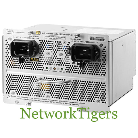 HPE J9830A Aruba 5400R zl2 Series 2750W PoE+ Switch Power Supply - NetworkTigers