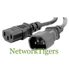 HP Dell Compatible Black 6' IEC320-C14 to IEC320-C13 10A-125V 18AWG Power Cord - NetworkTigers