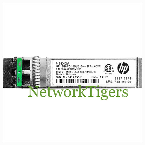 HPE H6Z42A 16 Gigabit FC/10G Optical SFP+ Transceiver