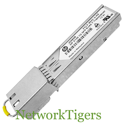 HPE JD089B Optical 1x Gigabit Ethernet SFP Base-T Transceiver - NetworkTigers
