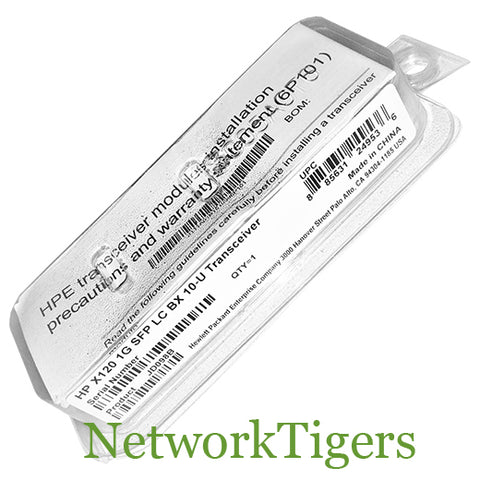 NEW HPE JD098B 1 Gigabit LC BX 10-U Optical SFP Transceiver