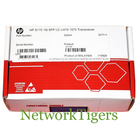 NEW HPE JD110A 1 Gigabit LC LH70 1570nm Optical SFP Transceiver