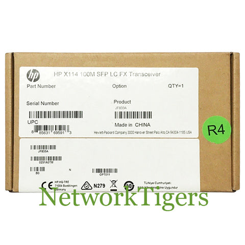 HPE JF833A 100M BASE-FX100 LC FX Optical SFP Transceiver