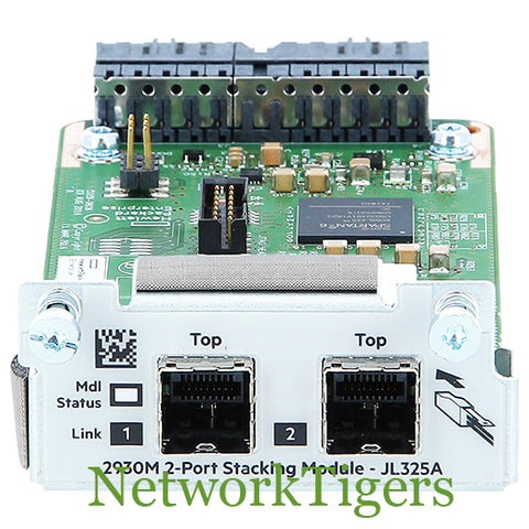 HPE JL325A Aruba 2930M Series 2x Stacking Port Switch Module - NetworkTigers
