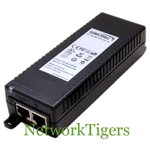 SonicWALL 01-SSC-5545 802.3at Gigabit PoE Injector with AC Power Cord