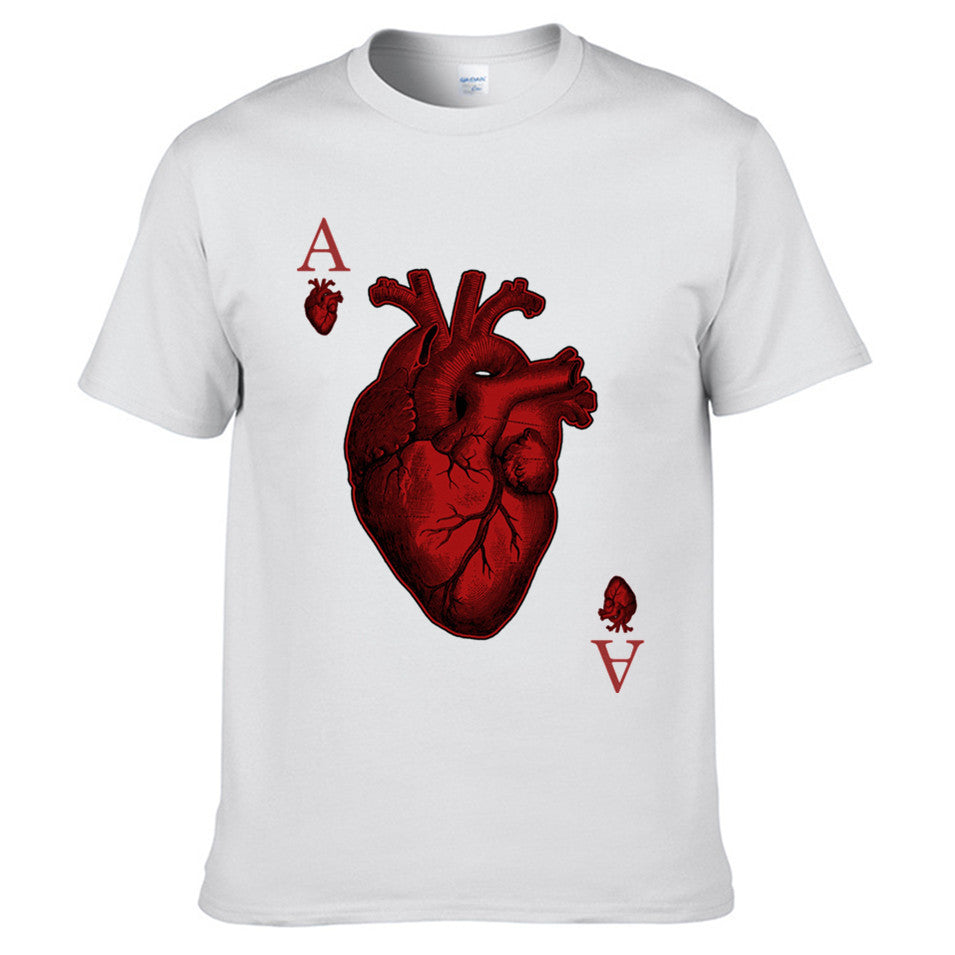 Heart design t shirt - Heart Poker T Shirt Free Shipping
