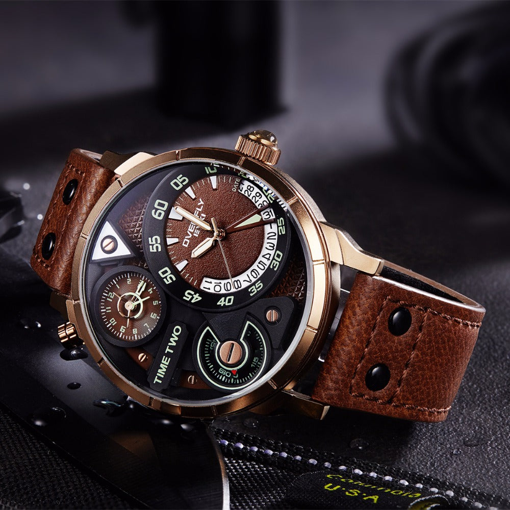 watch benyar mens military leather for chronograph hombre casual quartz watches strap men sport reloj clock business wristwatch item in from