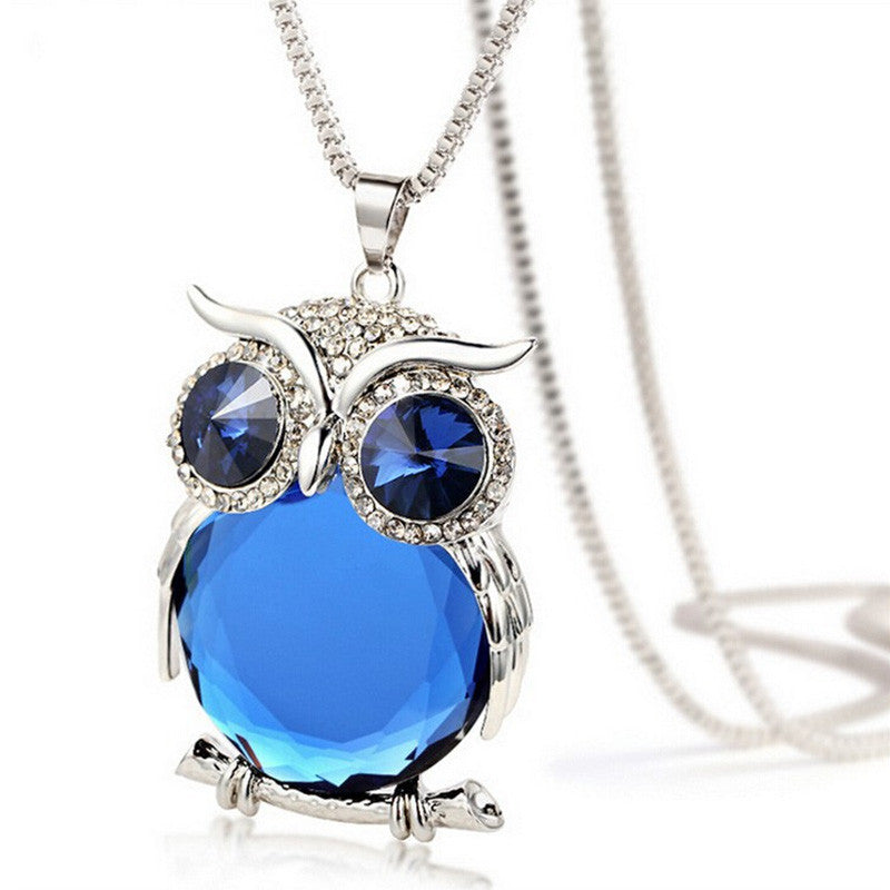 Crystal rhinestone owl pendant necklace my niche deals crystal rhinestone owl pendant necklace aloadofball Image collections