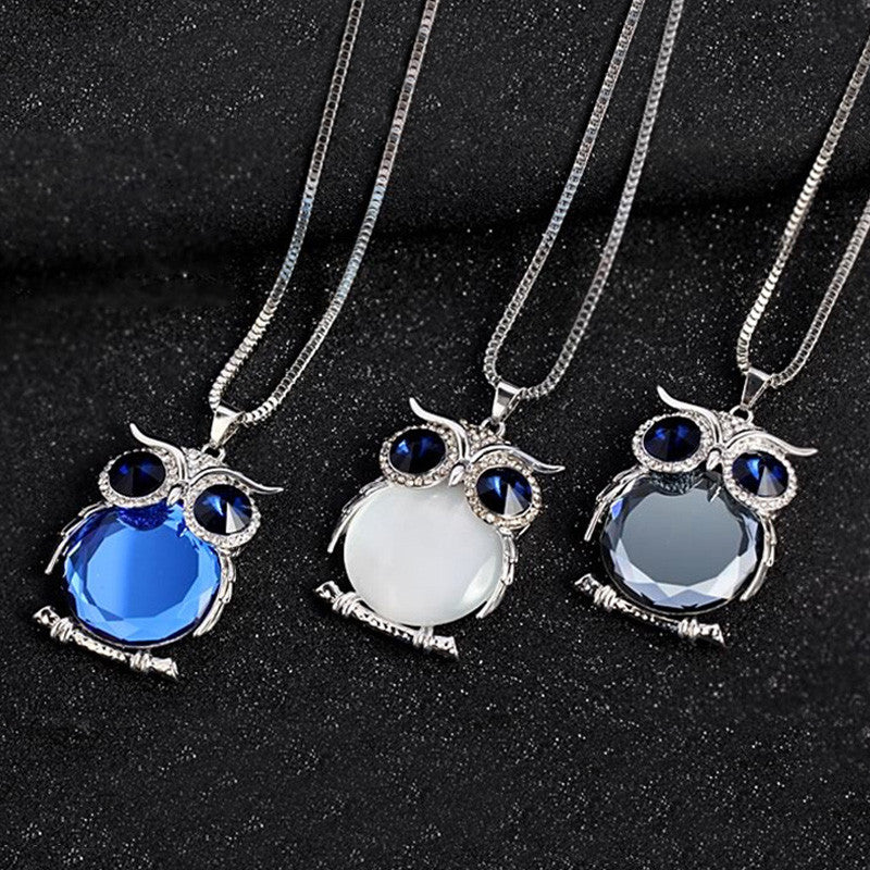 Crystal owl pendant necklace images crystal owl pendant necklace images crystal rhinestone owl pendant necklace my niche deals jpeg aloadofball