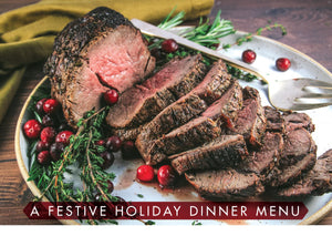 A Festive Holiday Dinner Menu