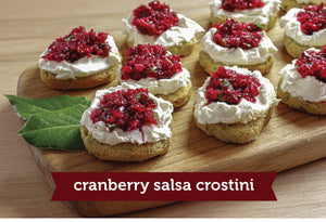 Our Best Holiday Appetizer: Cranberry Salsa Crostini