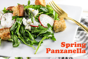 Spring! Bring it on now with our Spring Panzanella Salad