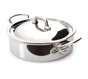 Mauviel Stainless Steel Rondeau, 5.8 qt