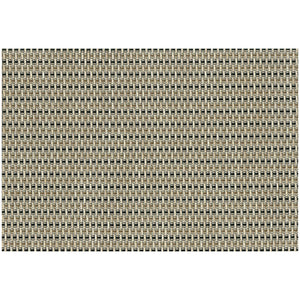 Ritz Placemat Basketweave Black and Tan