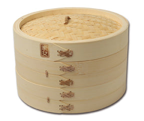 3 Piece Bamboo Steamer