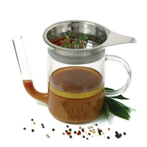 Norpro Glass Gravy Separator with Strainer - MyToque