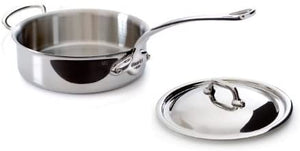 Mauviel Stainless Steel Saute Pan, 5.8 qt