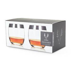 True Fabrications Viski Chrome Rim Tumblers - Set of 2