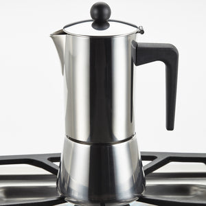 BonJour Stainless Steel Stove Top Espresso Maker, 6 cup