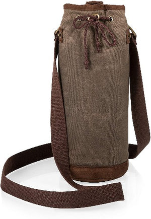 Picnic Time Wine Tote Waxed Canvas