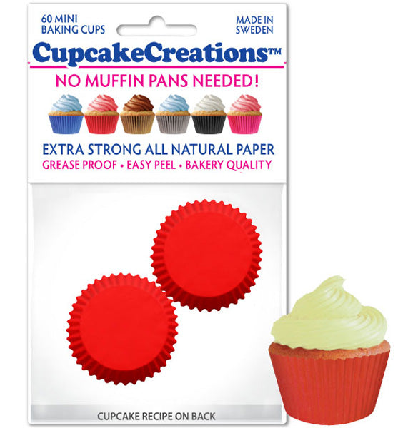 Mini Baking Cups, Red