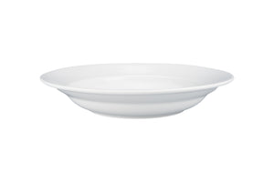 White Porcelain Bistro Rim Soup Bowl, 9.5""