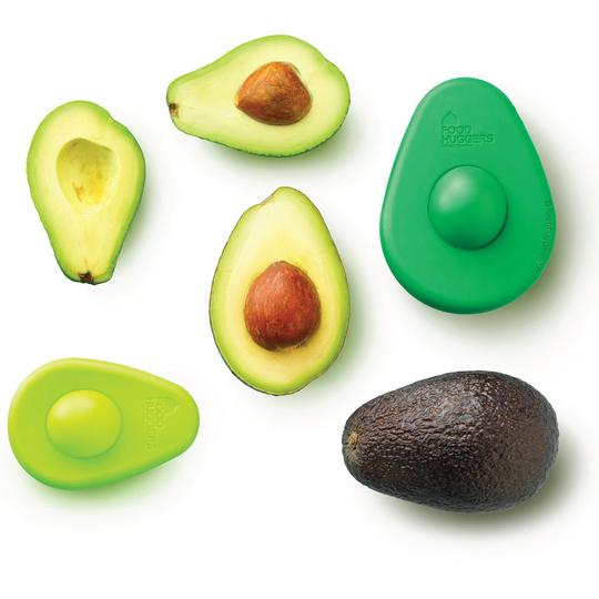 Food Huggers Silicone Storage, Avocado set of 2