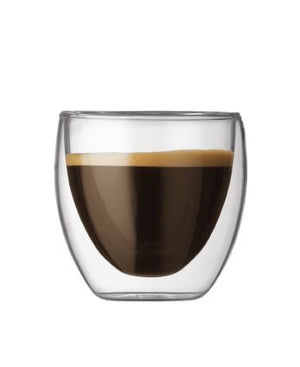 Bodum Double Wall Espresso Glass, Set of 2, 2.5 oz
