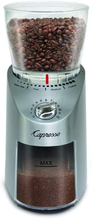 Capresso Infinity PLUS Burr Grinder, Stainless Steel