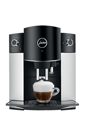 JURA D6 AUTOMATIC COFFEE MACHINE, PLATINUM - Back-Ordered - Ships Mid-February