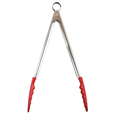 Cuisipro Stainless Steel Tongs, Red - MyToque