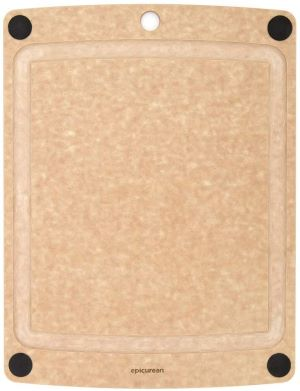"Epicurean Wood Cutting Board, Beige, 17.5"" X 13"""