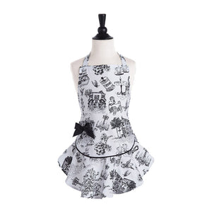 Jessie Steele Child's Apron, Cafe Toile