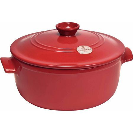 Emile Henry Flame Round Stewpot, Burgundy - MyToque