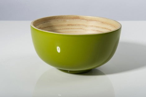 Bibol Medium Bamboo Bowl- Olive