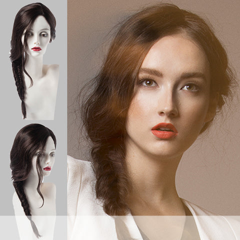 THE PHILO SIDE BRAID by Forever Young in color SANDY BLND