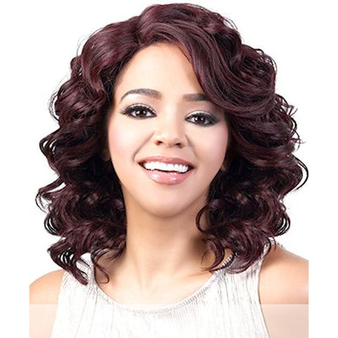 Motown Tress (Lxp. Ceri) - Heat Resistant Fiber Lace Part Wig in 1B [OVS]