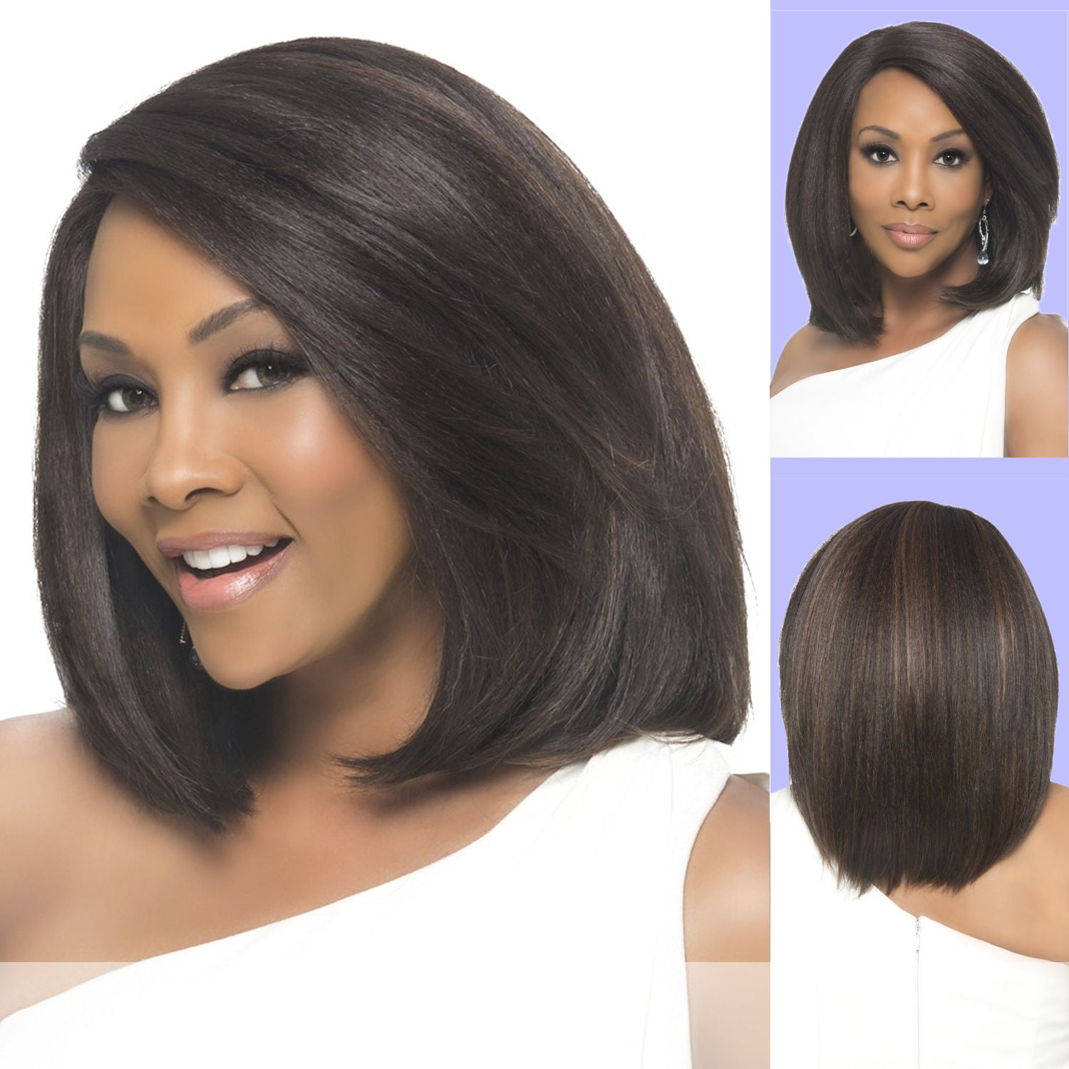 Vivica A. Fox (Perry) - Heat Resistant Fiber Swiss Lace Front Wig