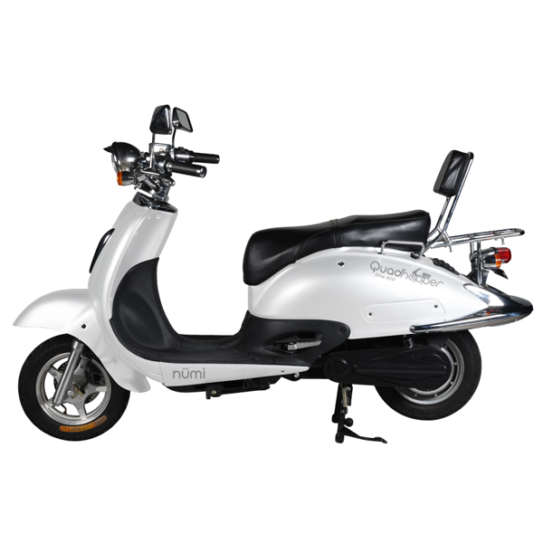 Electric Scooters | Motorized Scooters | Rechargeable BatteryScooters | White
