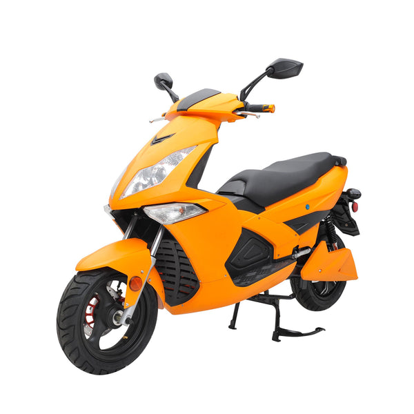 Electric Scooters | Motorized Scooters | Rechargeable Battery Scooters | Orange and Black