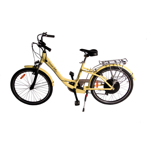 Electric Bike | eBike | Electric Rechargeable Battery Bicycle | Yellow