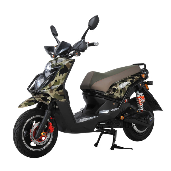 Electric Scooters | Motorized Scooters | Rechargeable Battery Scooters | Camouflage Green