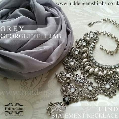 Grey | Maxi Georgette Luxe Hijab