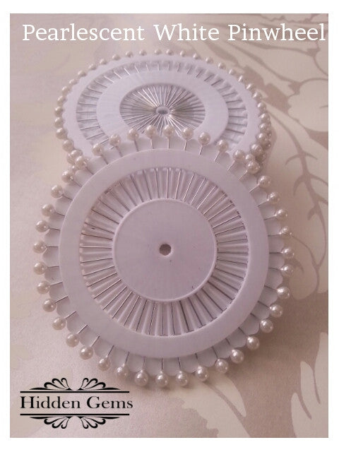 White Pearl | Hijab Pin Wheels